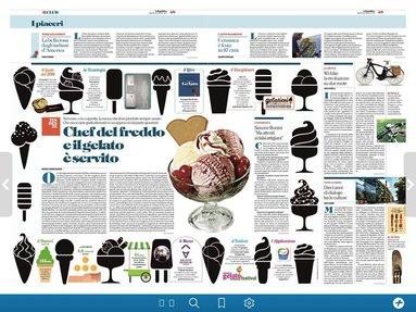La Repubblica talks about us and the new technologies in the field of artisan gelato